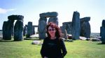 Eva at Stonehenge