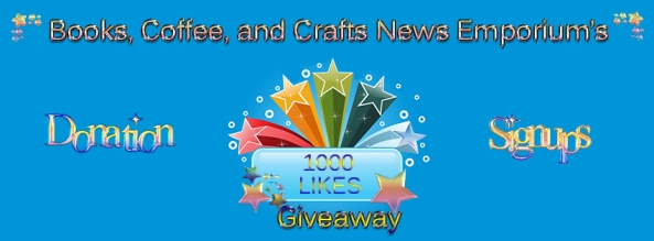 Books, Coffee, and Crafts News Emporium's 1000 Likes Donation Sign ups