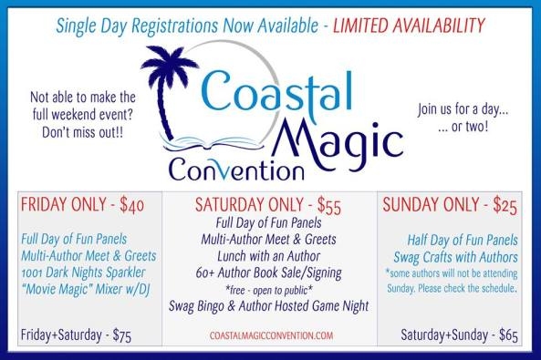 Single and Combo Day Registrations for Coastal Magic Convention
